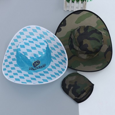 Cheap Travel Agency Cowboy Shape Foldable Nylon Hat