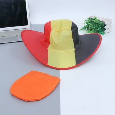 Cheap Polyester Foldable Folding Beach Sun Hat