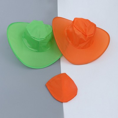 Fashion Convenient Polyester Folding Fan Hat