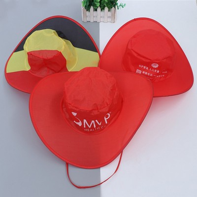 Fashion Cheap New Style Folding Cowboy Hat For Sports
