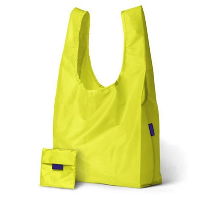 Popular Design Polyester Shopping Foldable Bag With Pocket
