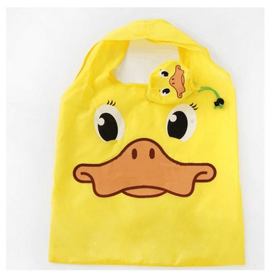 Hot Sale Lovely Colorful Duck Shape Polyester Folding Shopping Bag